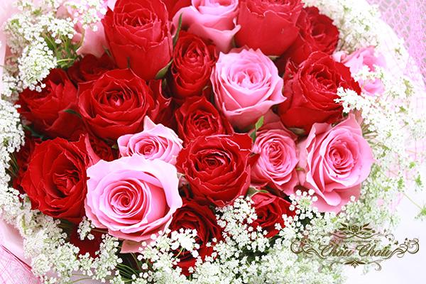 ディズニー プロポーズ ミラコスタ 薔薇 花束 オーダーフラワー  シュシュ 配達無料 舞浜花屋
