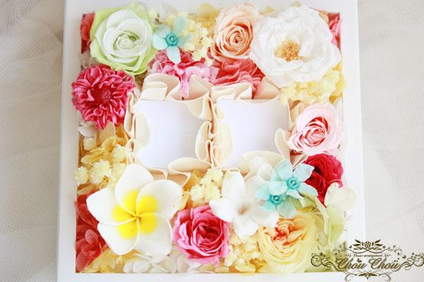 プロポーズ エンゲージリング リングホルダー リングボックス ジュエリーボックス プリザーブドフラワー プルメリア エミオン 花屋