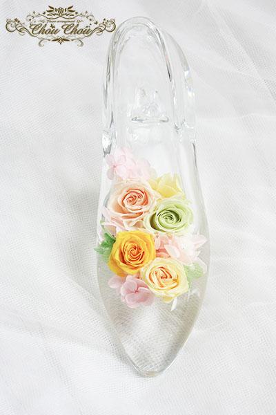お誕生日プレゼント ガラスの靴アレンジ order no 180907