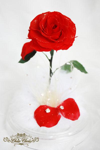 美女と野獣  薔薇 LED リングピック ディズニー プロポーズ ウェディング