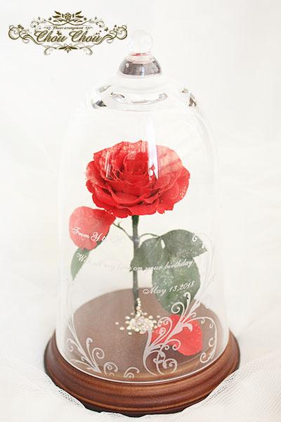 誕生日プレゼント 美女と野獣の一輪の薔薇 order no 180502