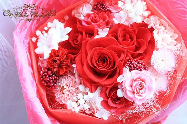 プロポーズ プリザーブドフラワーの花束 order no 181210