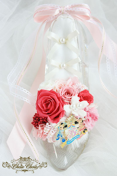 プロポーズ ガラスの靴 リングピローアレンジ order no 180806