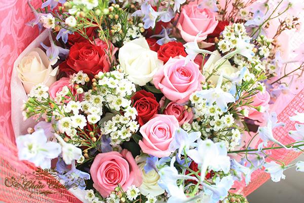 母の日 プレゼント 花束 フラワーギフト 贈り物 オーダーフラワーシュシュ