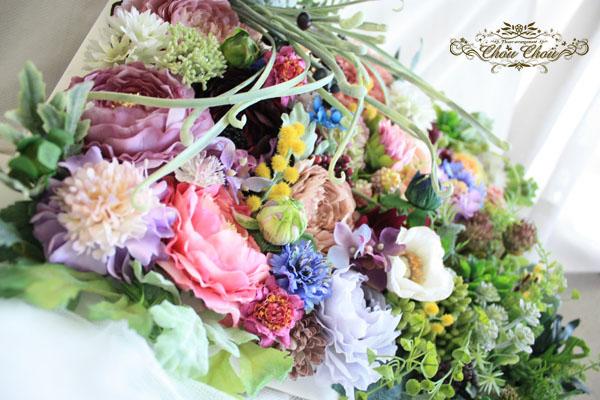 ウェルカムボード ウェディング 結婚式 フラワー フレーム 造花 花屋 舞浜