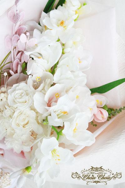 フリージア 花束 プレゼント 造花 プリザーブドフラワー ドライフラワー 北海道 花屋 ChouChou