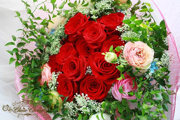 ディズニー プロポーズ ダズンローズ 赤薔薇 花束 ミラコスタ 配達無料 オーダーフラワー シュシュ chouchou 舞浜花屋