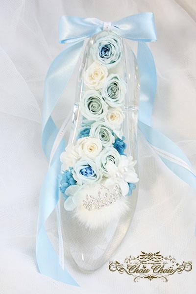 9輪のバラのシンデレラのガラスの靴アレンジ order no 181205