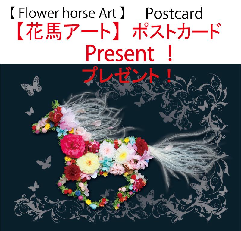 【花馬アート】ポストカード プレゼント