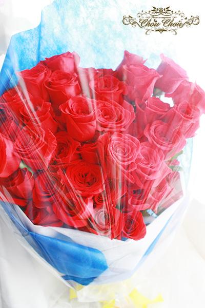 プロポーズの赤薔薇の花束(生花)order no 201754