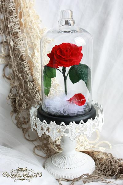 ディズニープロポーズ 美女と野獣 一輪の薔薇 ガラスドーム ディズニーランドホテル 販売