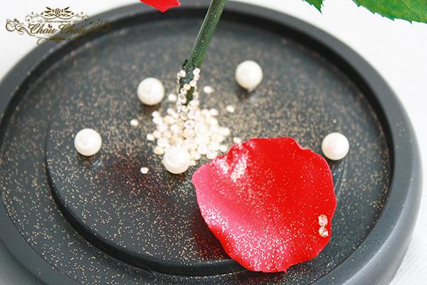 ディズニー プロポーズ 108本 薔薇 花束 美女と野獣 ガラスドーム  ミラコスタ オーダーフラワー シュシュ chouchou