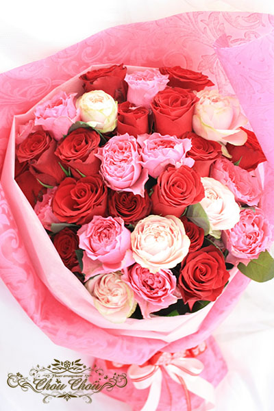 サプライズプレゼント 薔薇の花束 order no 180908