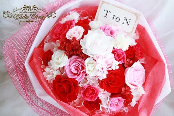 ディズニープロポーズ プリザーブドフラワーの花束 薔薇 25本 ディズニーランドホテル 花屋 chouchou シュシュ 浦安 舞浜 配達無料