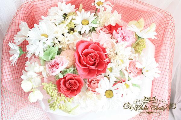 プロポーズ 9月3日の花 マーガレットの入った花束 order no 180901