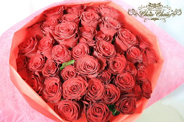 プロポーズ 赤薔薇の花束 order no 180809