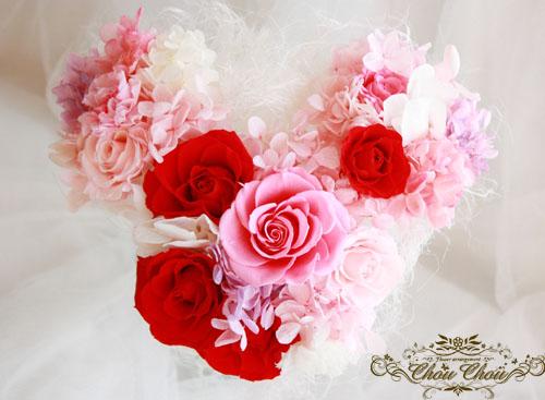 ディズニープロポーズ 花束 ホテルミラコスタ プリザーブドフラワー ミッキー型 花屋 配達 舞浜 シュシュ