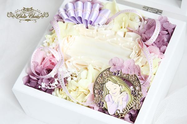 結婚式二次会での新婦へのプレゼント リングホルダー 付きジュエリーボックス order no 2017112