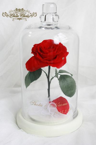 美女と野獣 薔薇 結婚祝い ゴールド刻印