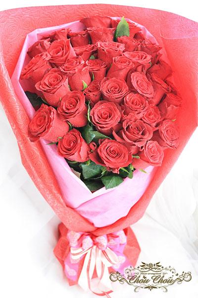プロポーズ 赤薔薇の花束 order no 180910