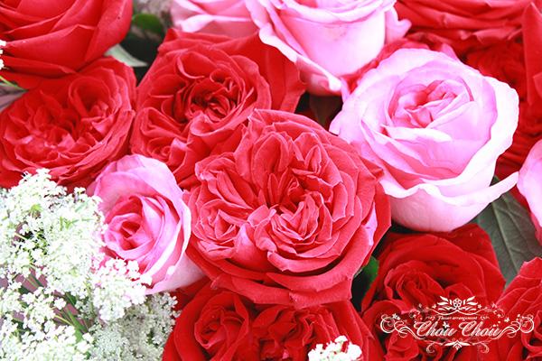ディズニー プロポーズ アンバサダーホテル 薔薇の花束 オーダーフラワー  シュシュ chouchou 舞浜花屋