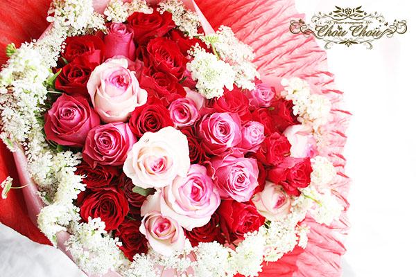 誕生日 ハートの花束 order no 180408