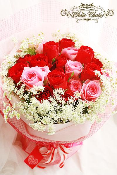 プロポーズの薔薇の花束 order no 201737