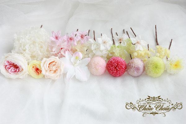FTW ヘアパーツ ミラコスタ ウェディング 結婚式 桜 花屋 舞浜 プリザーブドフラワー