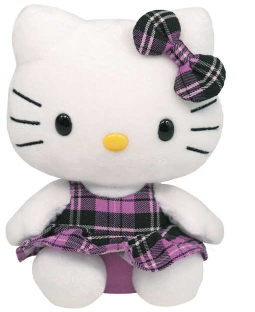 Hello Kitty Schottenrock violett