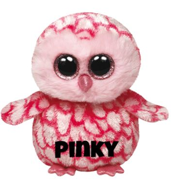 "Pinky is op 14 augustus jarig. ""If you look up in the night sky / You just may see me flying by !"""