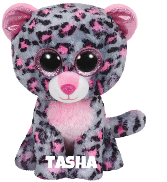 """Tasha is op 4 anuari jarig. """"You'll not see me during the day / Because my spots help me to hide away."""""""