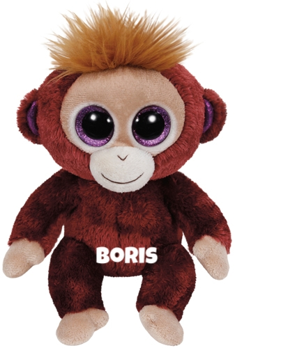 """Boris hat am 15. Februar Geburtstag. """"I'm a brown little monkey with fuzz on my head / Give me lots of bananas and keep me well fed"""""""