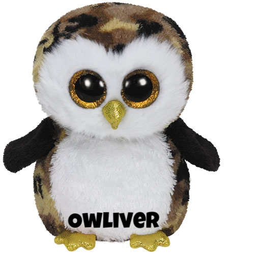 "Owliver is op 10 juli jarig. ""Over the trees and out of sight / Owl's take flight at mid night!"""
