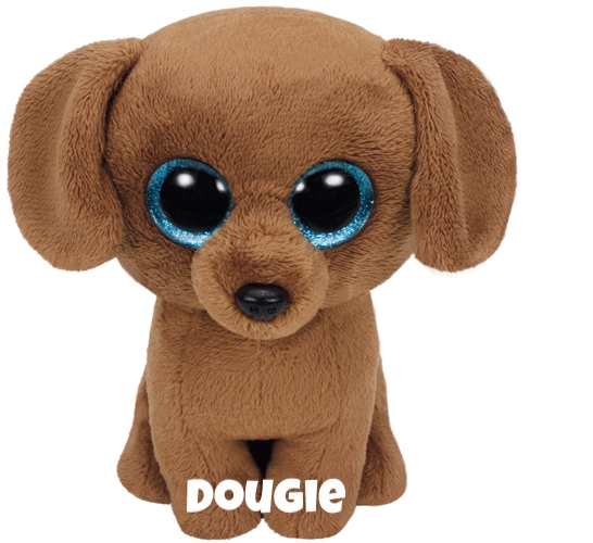 "Dougie is op 20 dezember jarig. ""I shake my toy, it makes a sound / Then I'll bury it in the ground!"""