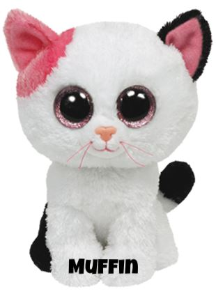 """Muffin hat am 7. Januar Geburtstag. """"My pink ear makes me a unique kitty / And my white fur just looks so pretty!"""""""