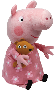Peppa in nachthemd
