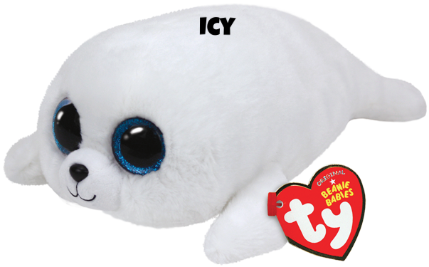"Icy is op 27 februari jarig. ""I swim in the ocean and lay on the ice / My pretty white coat they say is quite nice / To put on my blubber, I eat lots of fish / I catch them quickly when they start to swish!"""