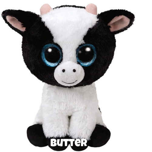 """Butter is op 12 januari jarig. """"I don't talk, I only moo / that's my way of saying """"I love you""""."""""""