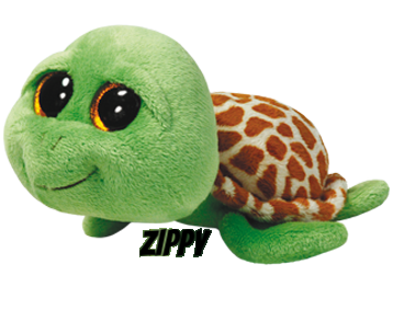 "Zippy is op 6 mei jarig. ""I like to swim in the sea for fun And then I rest on the beach in the sun!"""