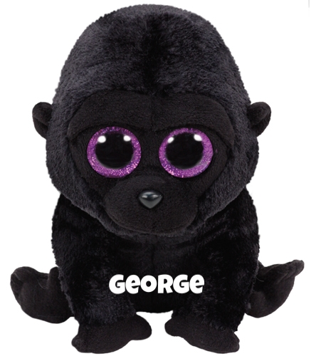 "George is op 18 oktober jarig. ""I get excited when my friends visit me / We talk and eat fruit, while we sip on our tea."""