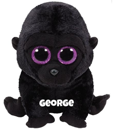 "George is op 18 oktober jarig. ""I get excited when my friends visit me / We talk and eat fruit, while we sip on our tea."""