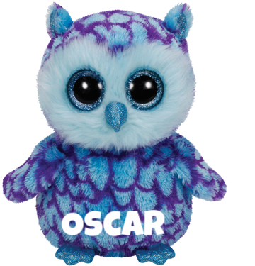 "Oscar is op 10 juni jarig. ""I like to hunt fish but only at night / A real tricky task with only moon light!"""