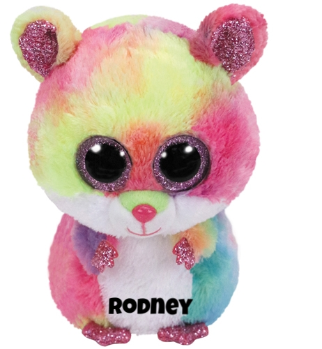 """Rodney hat am 4. April Geburtstag. """"I'm colorful and furry / As you can see / Please pick me up / And give me a squeeze."""""""