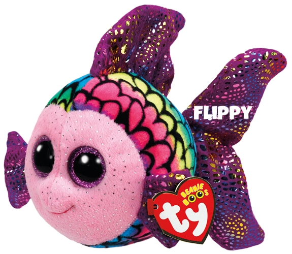 """Flippy hat am 3. Januar Geburtstag. """"I have big fins and I'm really cool / they really sparkle when I'm in the pool!"""""""
