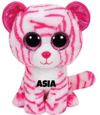 "Asia is op 6 juni jarig. ""Just call my name and I'll come in a wink / Then you'll see my white fur and my eyes that are pink!"""