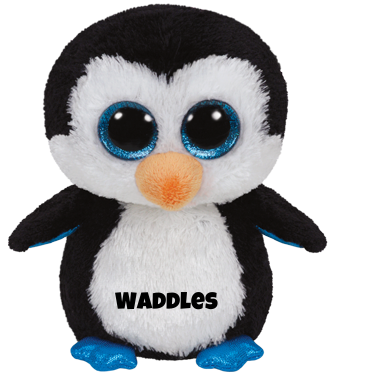 "Waddles hat am 11. Mai Geburtstag. ""When I swim, I go really fast / But when I run, I'm usually last!"""