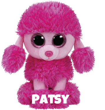 "Patsy is op 9 mei jarig. ""Play with me and fluff my hair / I'll sit very quietly on a chair!"""