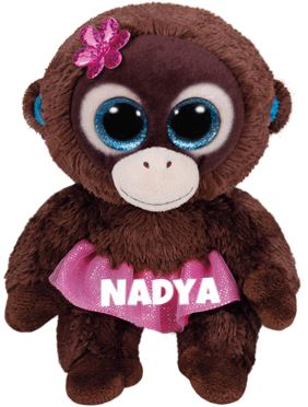 "Nadya is op 5 april jarig. ""My dress is pink,my eyes are blue / And I only want to dance with you"""