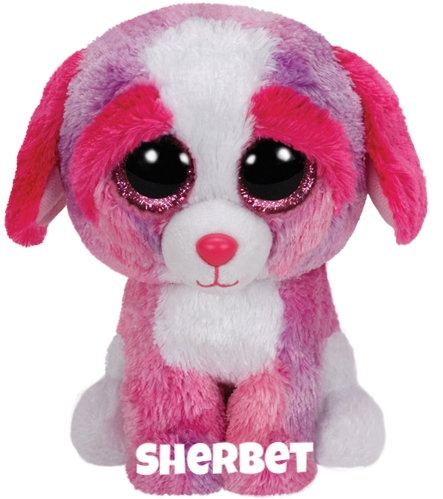 "Sherbet is op 8 februari jarig. ""I'm a happy dog when you're around / but sometimes, I act like a clown!"""