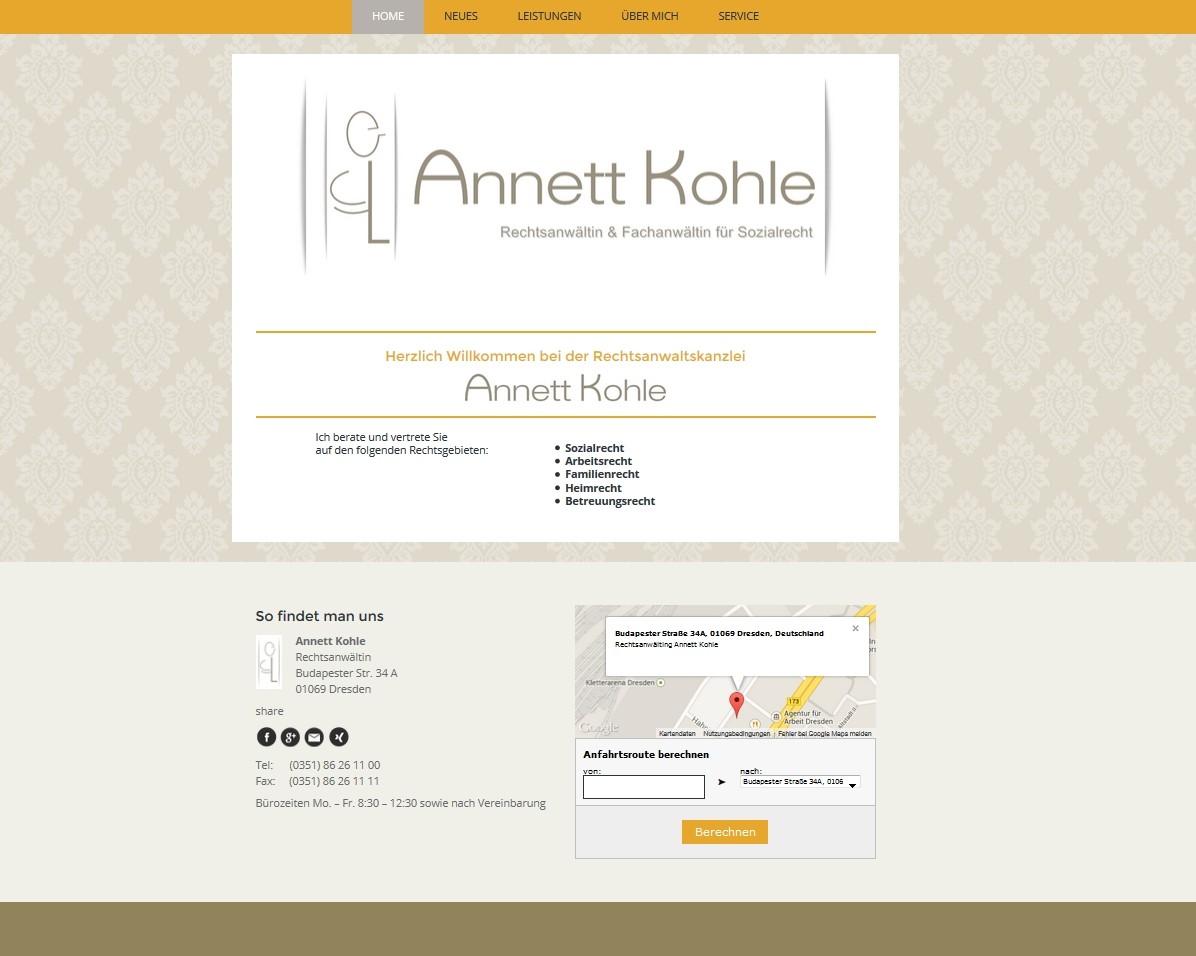Rechtsanwälting Annett Kohle - Dresden -